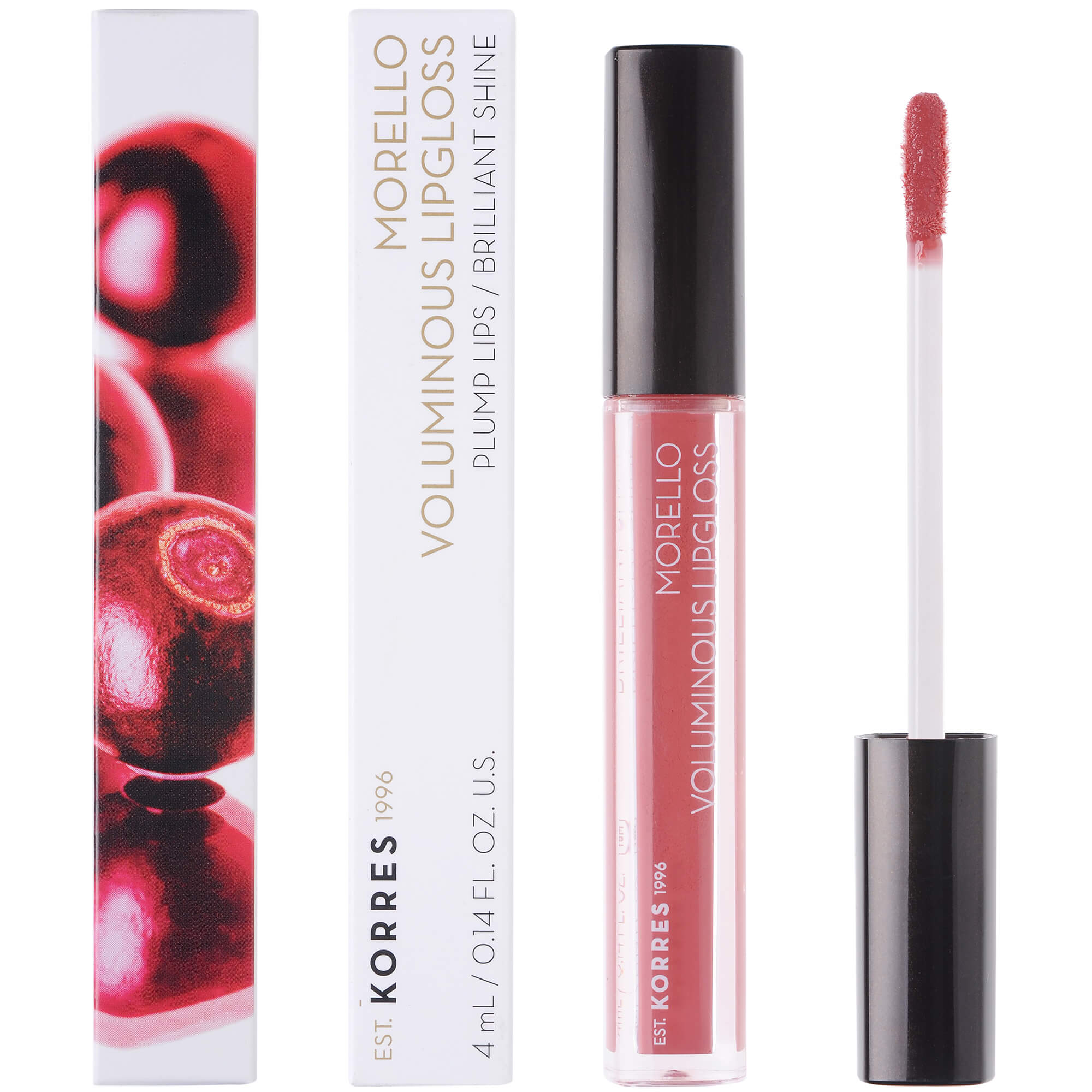 Korres Morello Voluminous Lipgloss Brilliant Shine Ενυδατικό Lipgloss με Εξαιρετική Λάμψη & Γεμάτο Χρώμα που Διαρκεί 4ml – 16 Blushed Pink