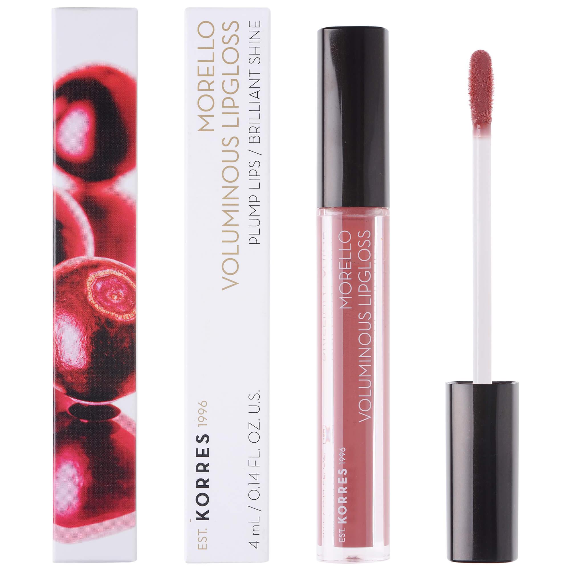 Korres Morello Voluminous Lipgloss Brilliant Shine Ενυδατικό Lipgloss με Εξαιρετική Λάμψη & Γεμάτο Χρώμα που Διαρκεί 4ml – 23 Natural Purple