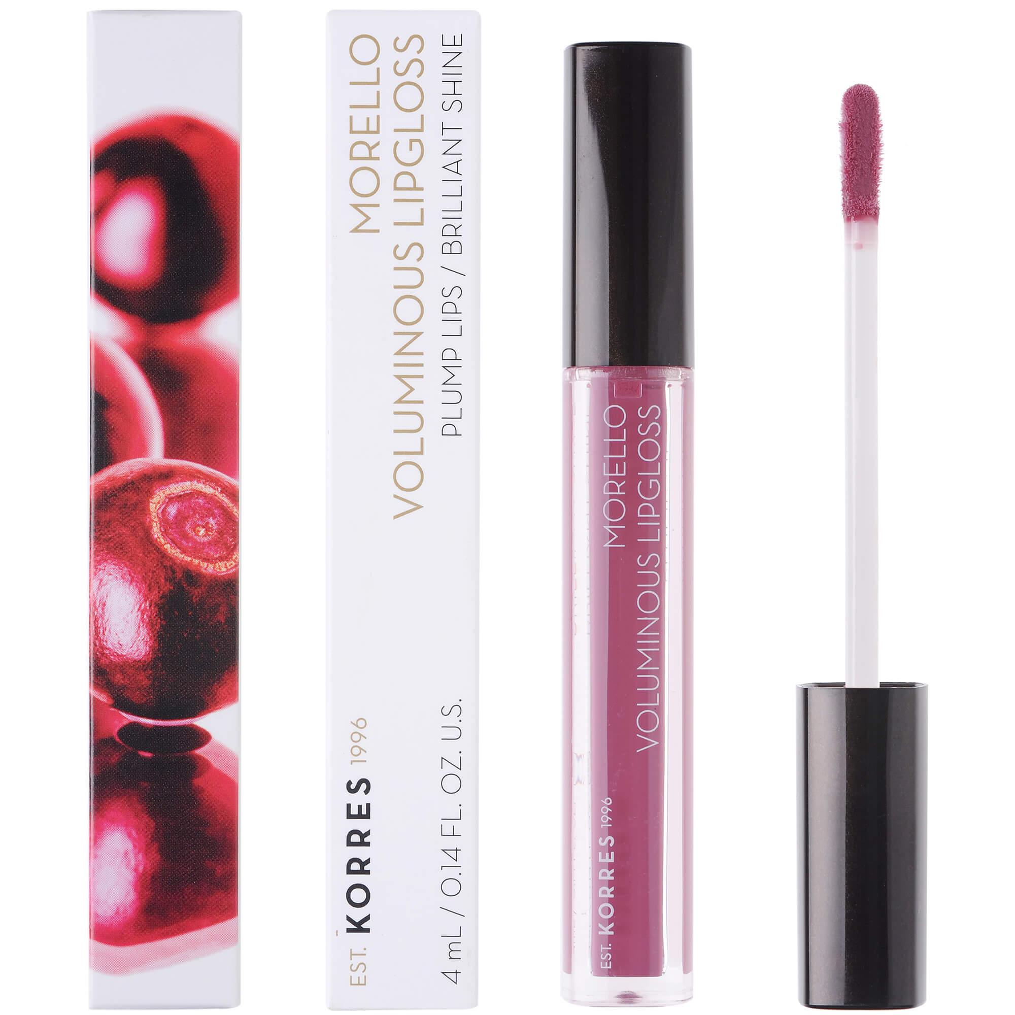 Korres Morello Voluminous Lipgloss Brilliant Shine Ενυδατικό Lipgloss με Εξαιρετική Λάμψη & Γεμάτο Χρώμα που Διαρκεί 4ml – 27 Berry Purple