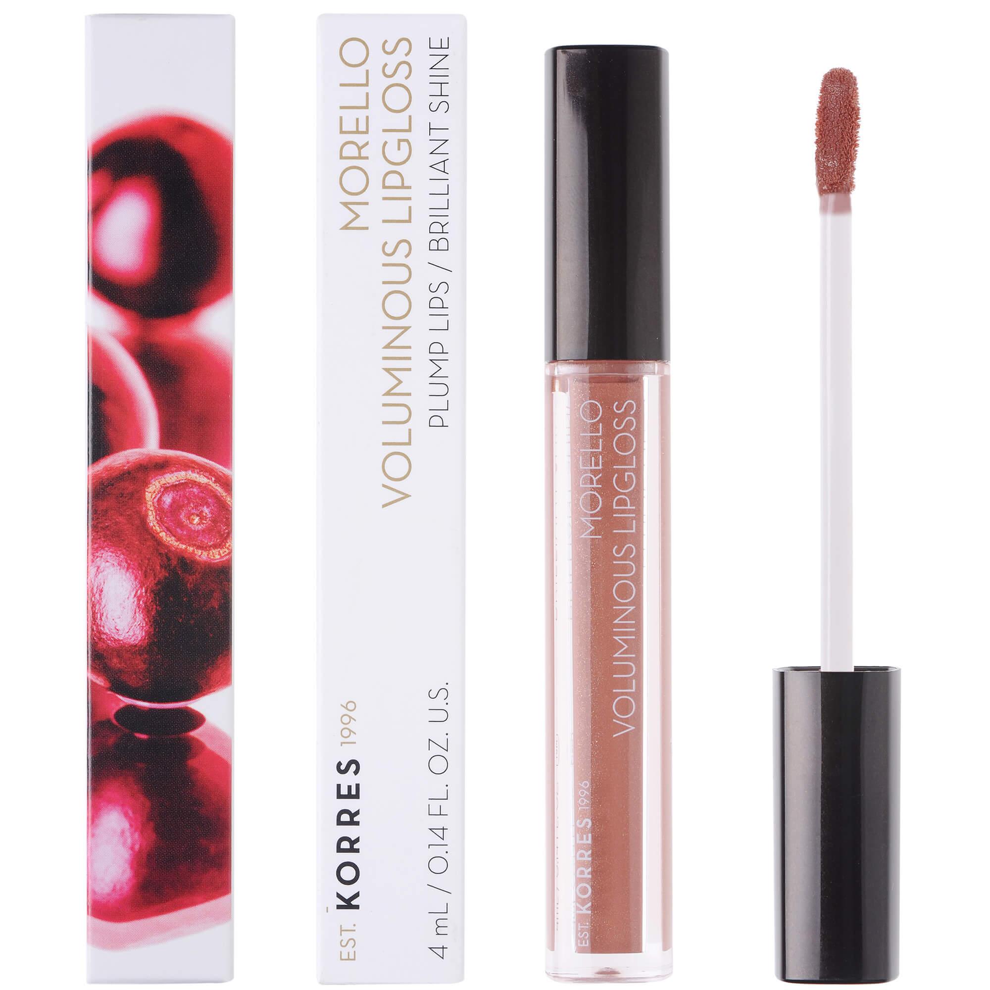 Korres Morello Voluminous Lipgloss Brilliant Shine Ενυδατικό Lipgloss με Εξαιρετική Λάμψη & Γεμάτο Χρώμα που Διαρκεί 4ml – 31 Bronze Nude