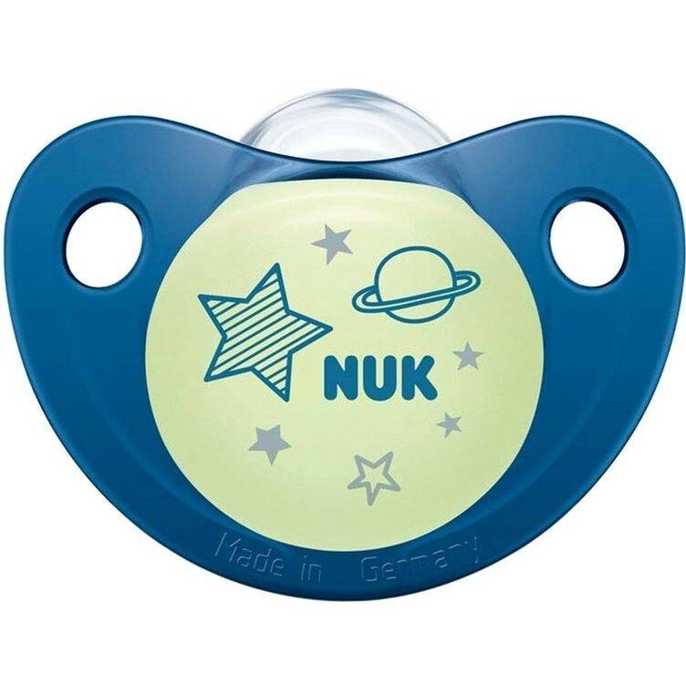 Nuk Night & Day Πιπίλα Σιλικόνης 1τμχ – Μπλε1 0-6Μηνών