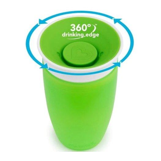 Munchkin Sippy Cup Παιδικό Κύπελλο Miracle 360° 12m+, 296ml – πράσινο