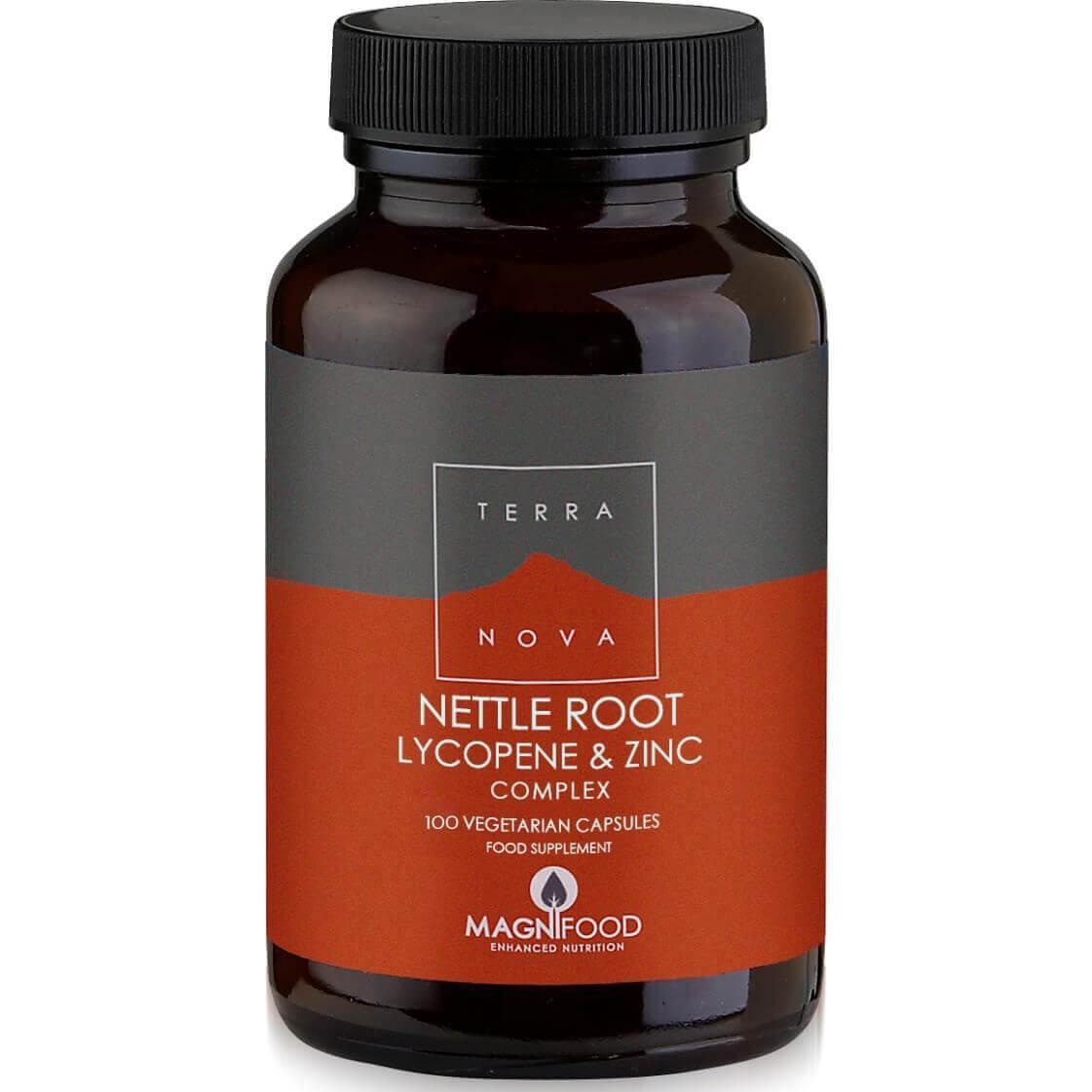 Terranova Nettle Root Lycopene & Zinc Complex Prostate Support Η Ολοκληρωμένη Σύνθεση Φυτικών Συστατικών για τον Προστάτη – 100 veg. caps
