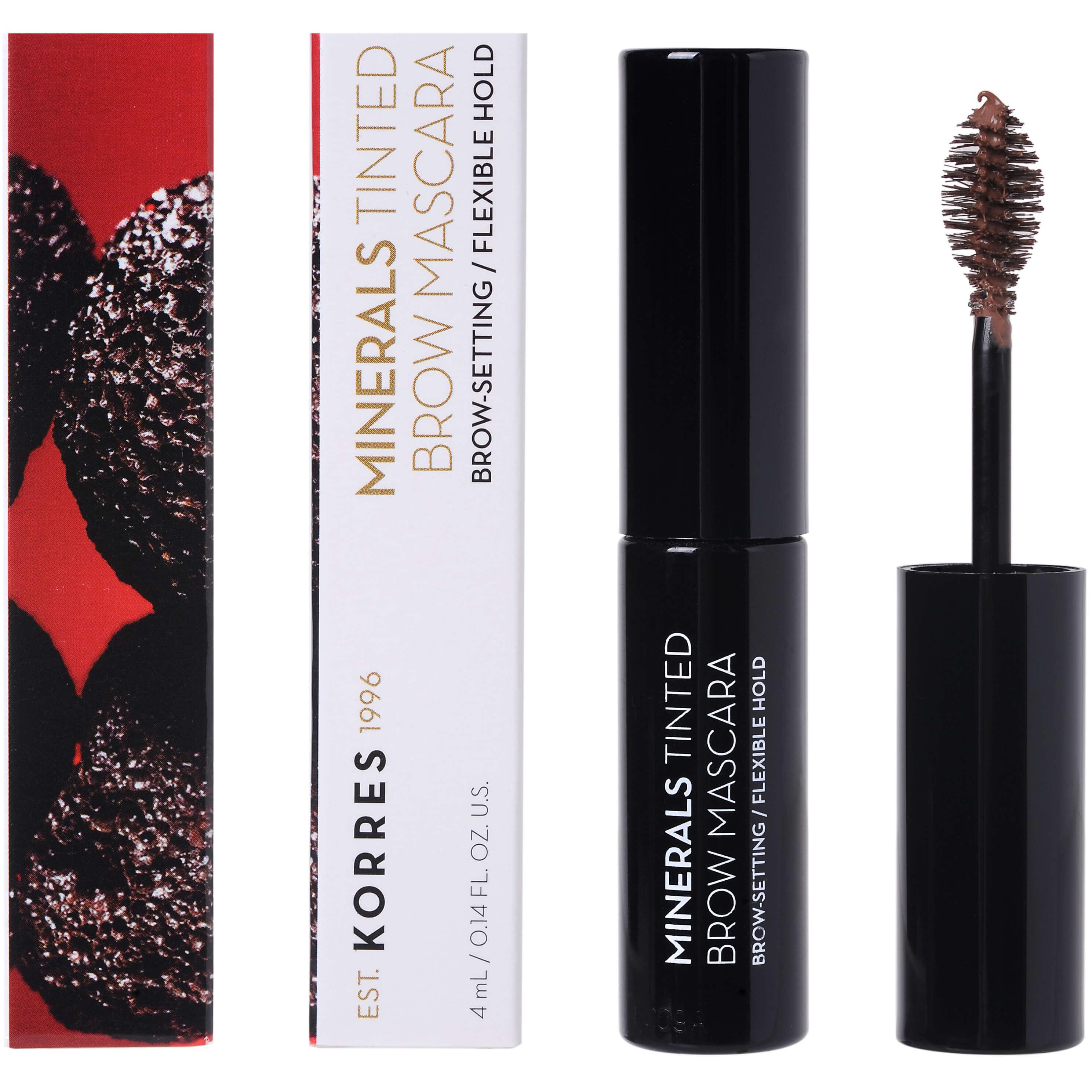 Korres Minerals Tinted EyeBrow Mascara Μάσκαρα Φρυδιών που Διαμορφώνει, Χρωματίζει & Σταθεροποιεί τα Φρύδια 4ml – 02 Medium Shade