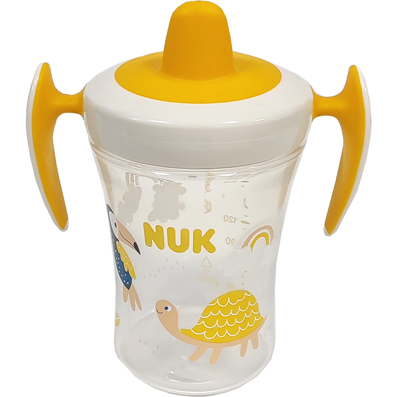 Nuk Trainer Cup με Μαλακό Ρύγχος και Χεράκια 6+ , 230ml – κίτρινο