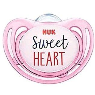 Nuk Freestyle Πιπίλα Σλικόνης – 18-36 Μηνών Ροζ