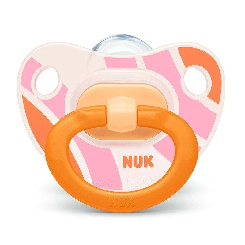 Nuk Happy Days Ορθοδοντική Πιπίλα Σιλικόνης 1 τεμάχιο – 6-18 Μηνών Πορτοκαλί