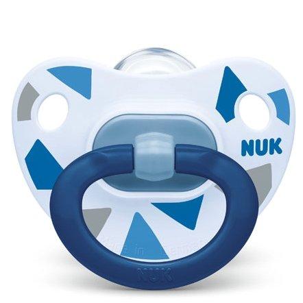 Nuk Happy Days Ορθοδοντική Πιπίλα Σιλικόνης 1 τεμάχιο – 6-18 Μηνών Μπλε