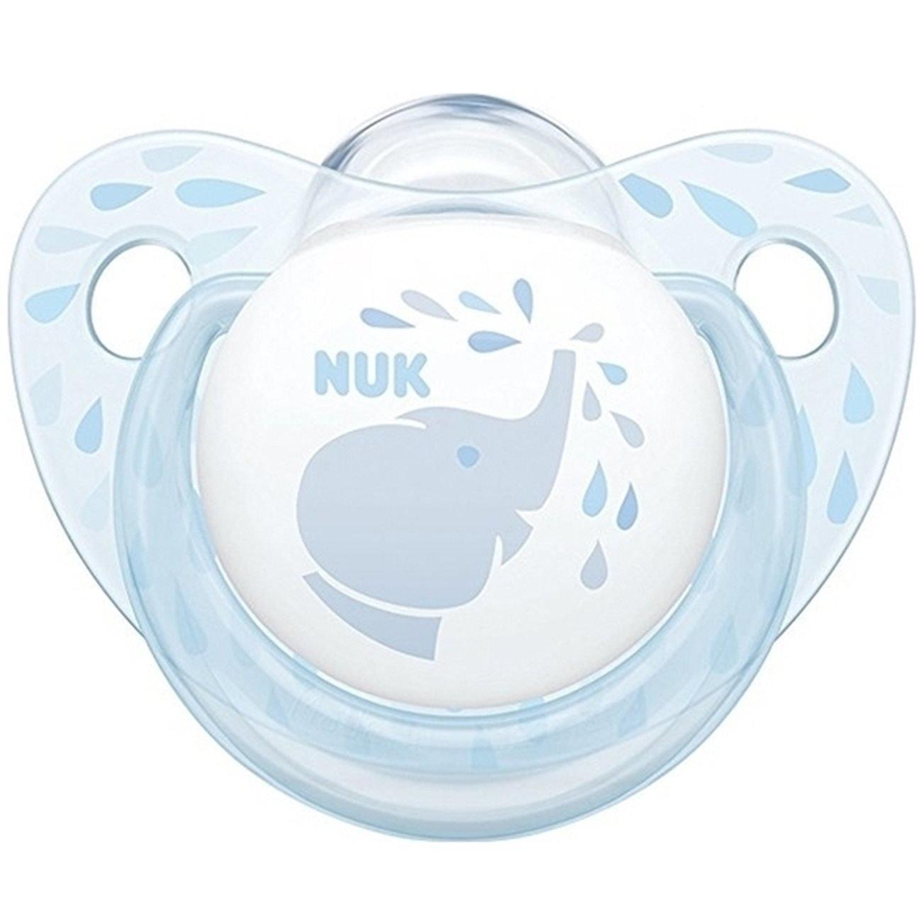 Nuk Baby Rose & Blue Πιπίλα Σιλικόνης με Κρίκο 1τεμάχιο – Baby Blue2 0-6 Μηνών