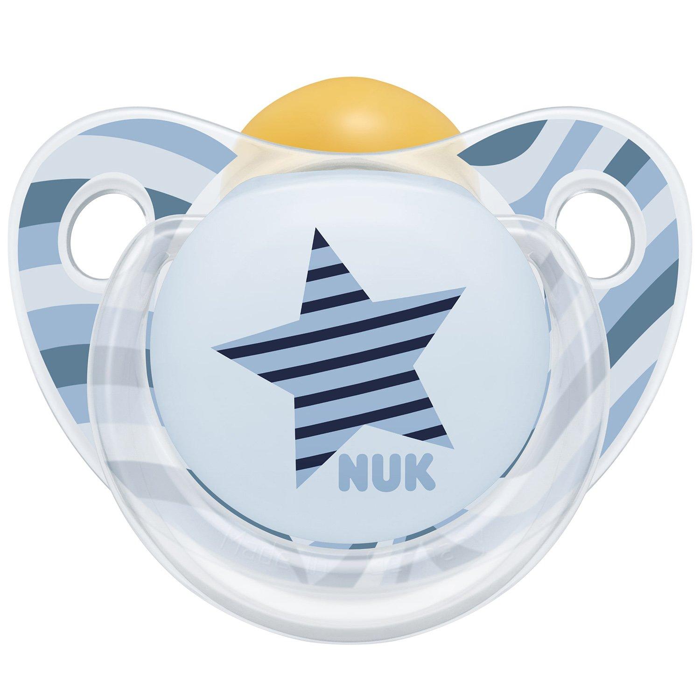 Nuk Trendline Adore Πιπίλα Καουτσούκ 1 Τεμάχιο – 6-18 Μηνών Γαλάζια