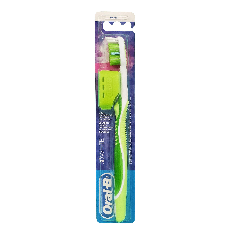 Oral B 3D White Οδοντόβουρτσα Μέτρια, 1 τεμάχιο – πράσινο