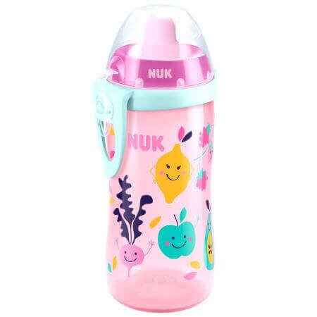 NukFlexi CupΚύπελλο Πολυπροπυλενίουμε Μαλακό Καλαμάκι Σιλικόνης 18+m BPA Free 300ml – ροζ