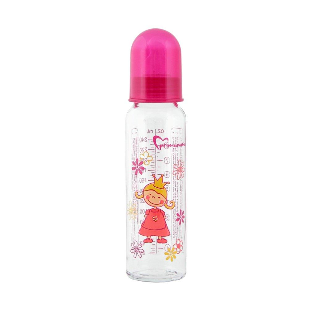 Mam Primamma Milch Silikon Μπιμπερό Γυάλινο με Θηλή Σιλικόνης Κωδ 710S από 0+ Μηνών 230ml – ροζ
