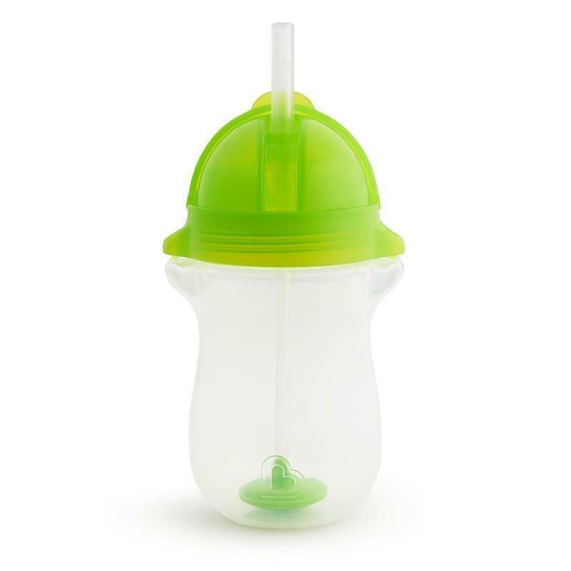 Munchkin Click Lock Tip & Sip Tall Ποτήρι με Καλαμάκι με Βαρίδι 296ml – πράσινο