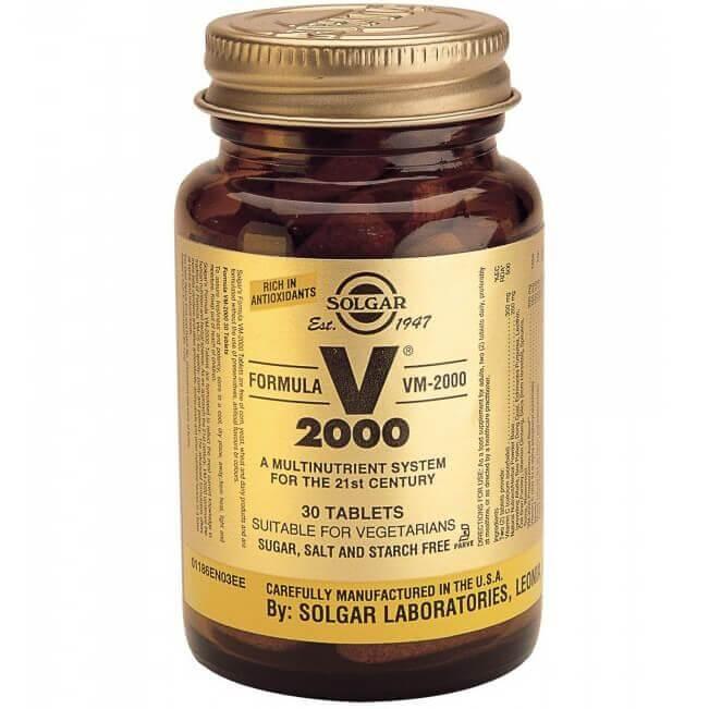 Solgar Formula VM-2000 Συμπλήρωμα Διατροφής Πλούσιο σε Αντιοξειδωτικά & Μέταλλα Χηλικής Μορφήςtablets – 30 tabs