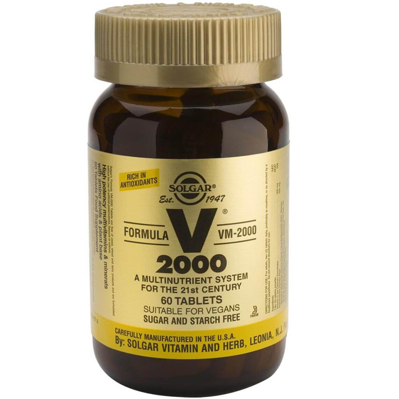 Solgar Formula VM-2000 Συμπλήρωμα Διατροφής Πλούσιο σε Αντιοξειδωτικά & Μέταλλα Χηλικής Μορφής tablets – 60 tabs