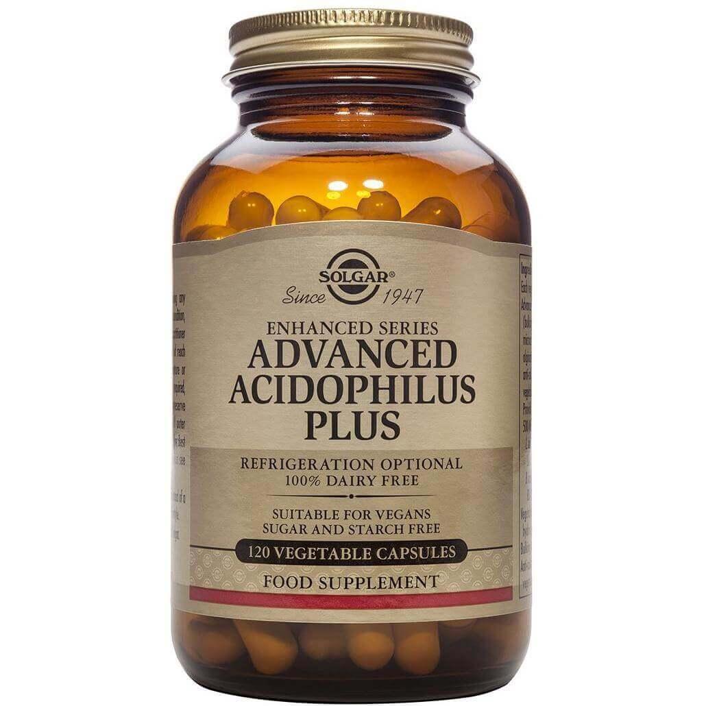 Solgar Advanced Acidophilus Plus Συμπλήρωμα Διατροφής για την Διατήρηση της Φυσιολογικής Λειτουργίας του Εντέρου veg.caps – 120 veg caps