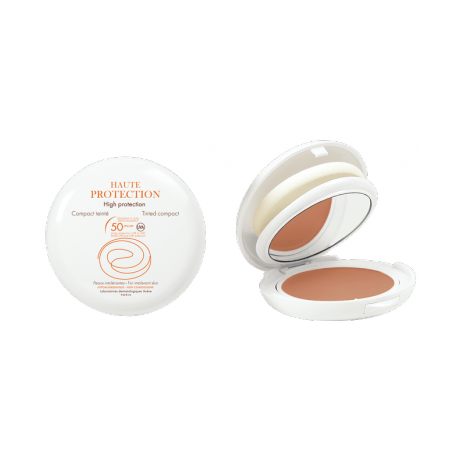 Avène Haute Protection Compact Dore Spf50 Αντηλιακή Προστασία Και Μακιγιάζ Υγρή Πούδρα 10gr