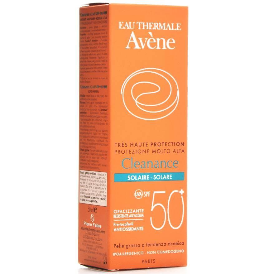 Avene Very High Protection Cleanance Solaire Spf50+ Πολύ Υψηλή Αντηλιακή Προστασία για Δέρματα με Τάση Ακμής 50ml