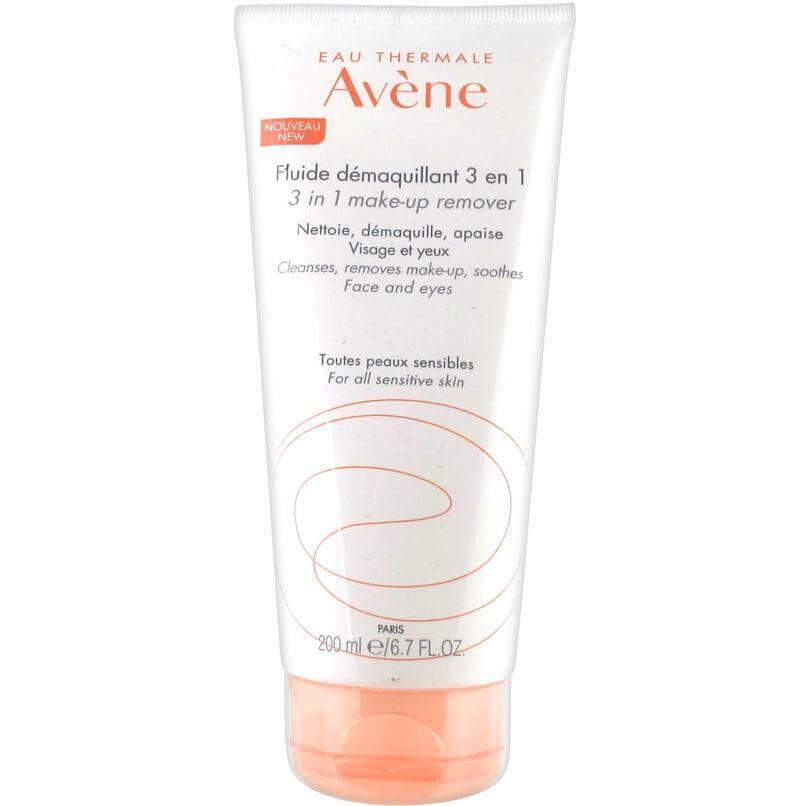 Avene Fluide Démaquillant 3-in-1 Γαλάκτωμα Ντεμακιγιάζ για Πρόσωπο, Μάτια &Χείλη Χωρίς Ξέπλυμα200ml