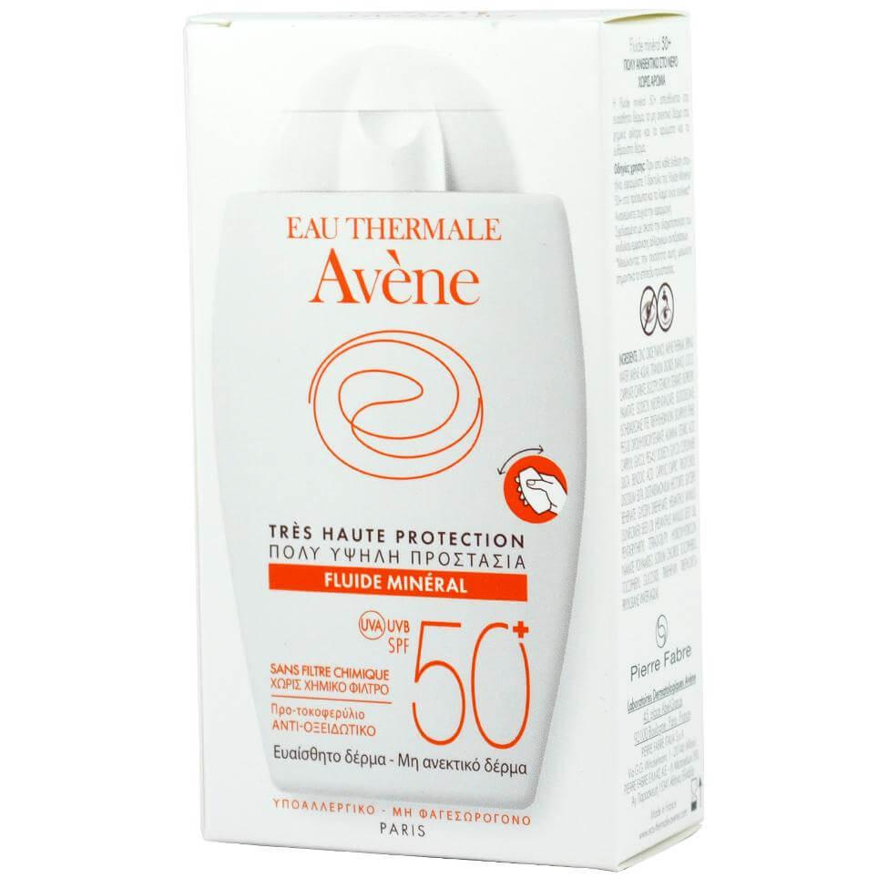 Avene Very High Protection Fluide Mineral Spf50+ Πολύ Υψηλή Αντηλιακή Προστασία της Ευαίσθητης Μη Ανεκτικής Επιδερμίδας 40ml