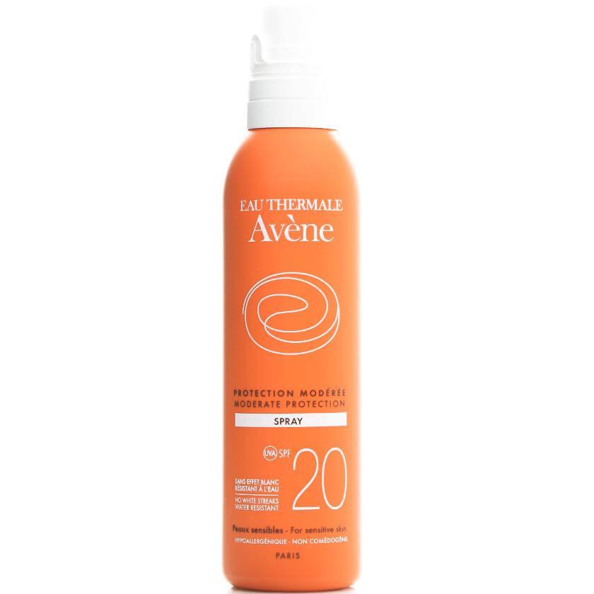 Avene Protection ModereeSpray Spf20 Μεσαία Αντηλιακή Προστασία του Ευαίσθητου Δέρματος για Πρόσωπο & Σώμα 200ml
