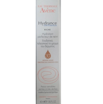 Avène Hydrance Optimale Hydratant Perfecteur De Teint Riche Spf30 40ml