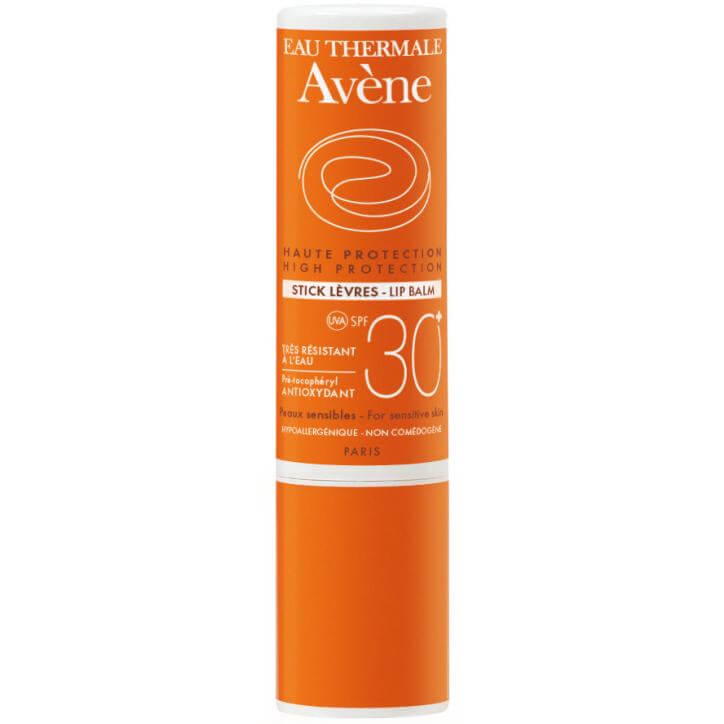 Avene High Protection Stick Lip Balm Spf30 Υψηλή Αντηλιακή Προστασία για Χείλη, Μύτη, Αυτιά 3gr