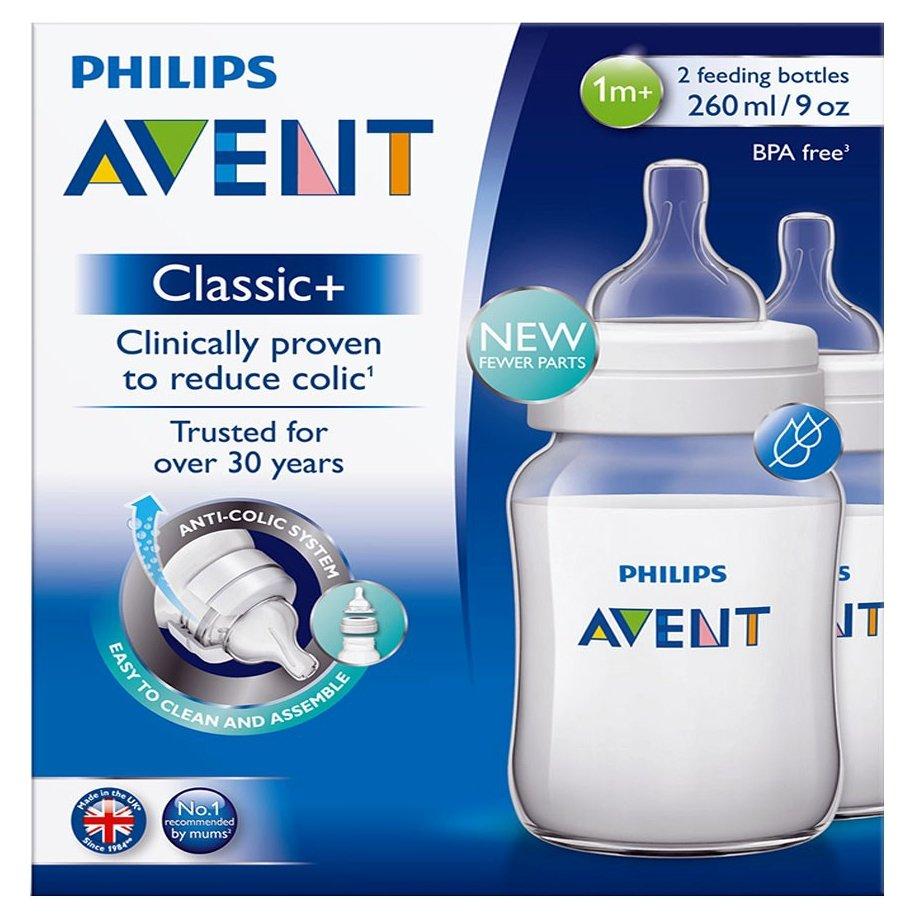 Avent Classic+ Μπιμπερό Πολυπροπυλενίου Χωρίς BPA 260ml 2τμχ SCF563/27