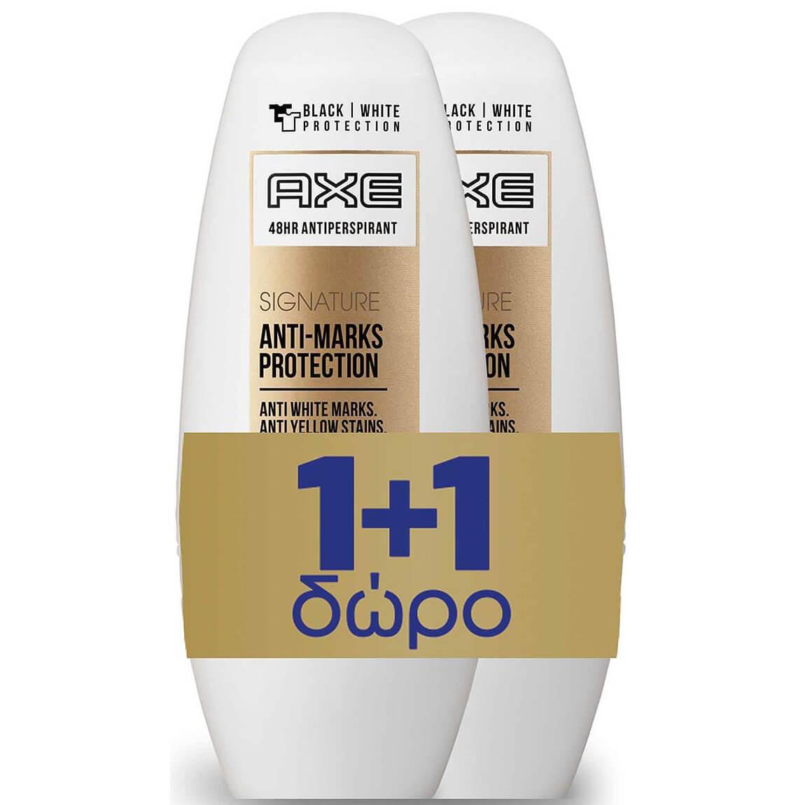 Axe Πακέτο Προσφοράς Signature Anti-Marks Protection Roll on Αποσμητικό 2x50ml 1+1 Δώρο