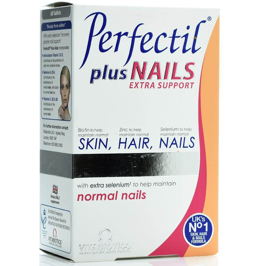 Vitabiotics Perfectil Plus Nails Συμπλήρωμα Διατροφής που Συμβάλλει στο Σχηματισμό και την Αναδόμηση των Νυχιών 60caps