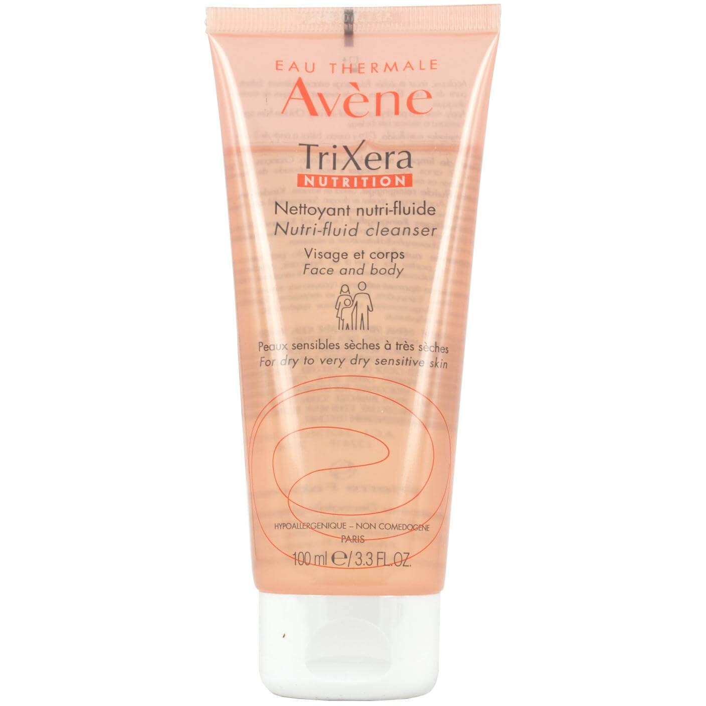 Avene Trixera Nutrition Gel Nettoyant Nutri-Fluide Λεπτόρρευστο Καθαριστικό Προσώπου & Σώματος για Ευαίσθητο – Ξηρό Δέρμα 100ml