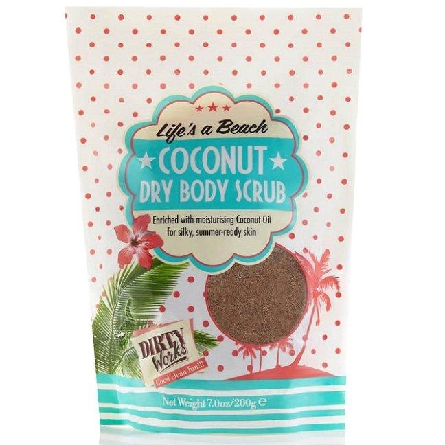 Dirty Works Dry Body Scrub Σώματος με Κόκκους Καφέ και Λάδι Καρύδας, 200g
