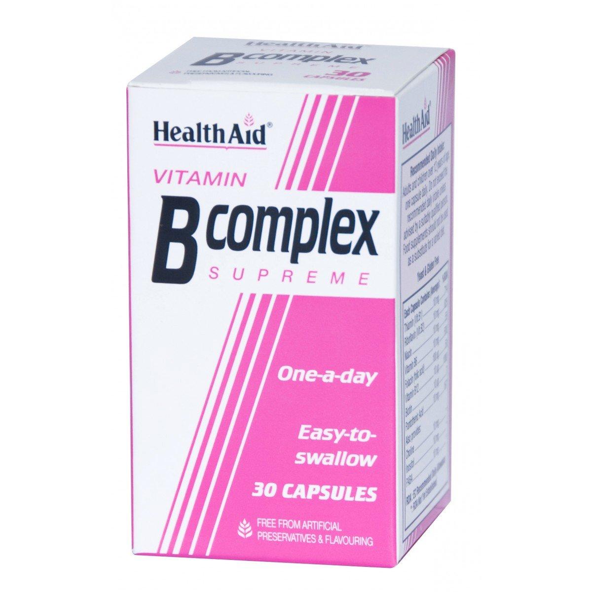 Health Aid B Complex Supreme Σύμπλεγμα Βιταμινών Β 30caps