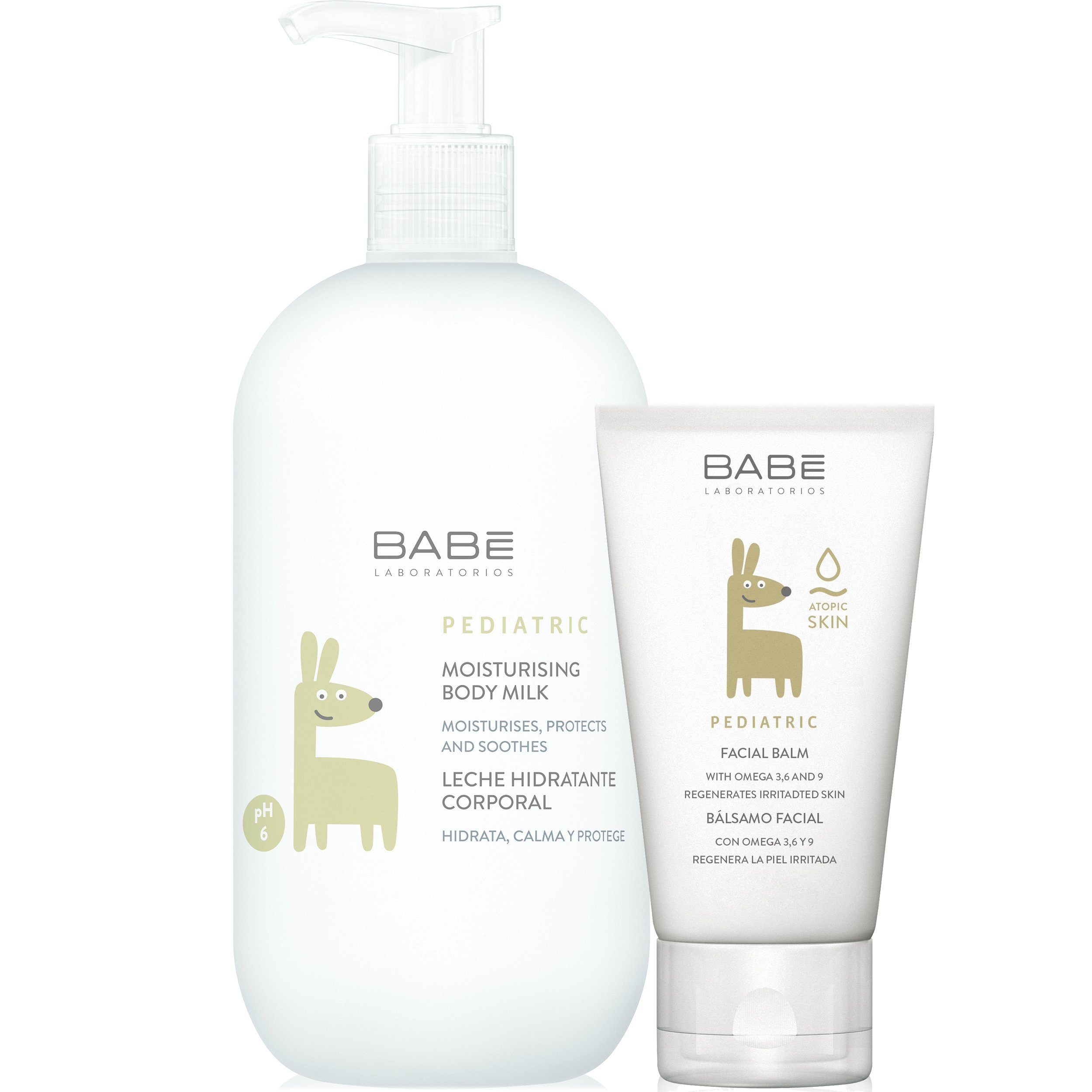 Babe Πακέτο Προσφοράς Pediatric Moisturizing Body Milk 500ml & Δώρο Pediatric Facial Balm 50ml