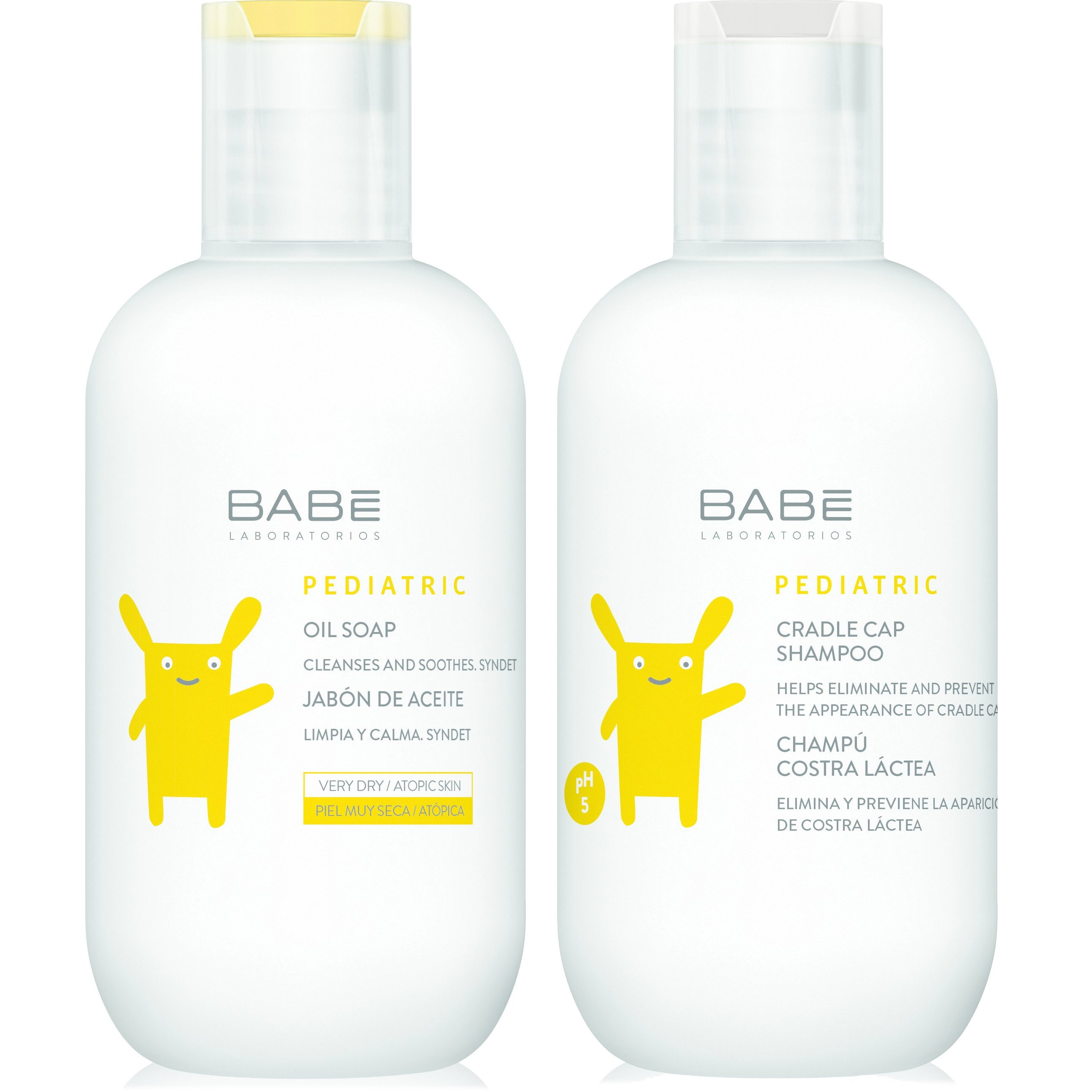 Babe Πακέτο Προσφοράς Babe Pediatric Oil Soap 200ml & Δώρο Babe Pediatric Crandle Cap Shampoo 200ml