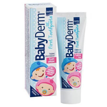 Intermed Babyderm First Toothpaste Για τον Καθαρισμό και την Προστασία των Πρώτων Βρεφικών Δοντιών 50ml