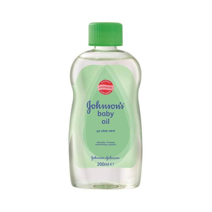 Johnsons Baby Oil Aloe Vera Απαλό Λάδι με Ενυδατικές και Καταπραϋντικές Ιδιότητες 200ml