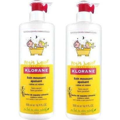 Klorane Petit Junior Bain Moussant Apaisant Καταπραϋντικό Παιδικό Αφρόλουτρο με Βανίλια – Μέλι 2x500ml