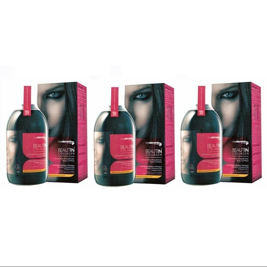 3 x MyElements Beautin Collagen Υδρολυμένο Πόσιμο Κολλαγόνο Με Υαλουρονικό Οξύ Κ υγιεινή   χέρια   χέρια  περιποίηση θεραπεία νυχιών