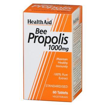 Health Aid Bee Propolis 1000mg Πρόπολη Ένα φυσικό Αντιβιοτικό με Άριστες Αντιμικροβιακές & Aπολυμαντικές Ιδιότητες 60tabs