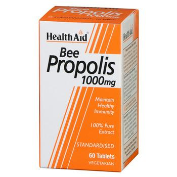 Health Aid Bee Propolis 1000mg Πρόπολη Ένα φυσικό Αντιβιοτικό με Άριστες Αντιμικροβιακές & Απολυμαντικές Ιδιότητες 60tabs