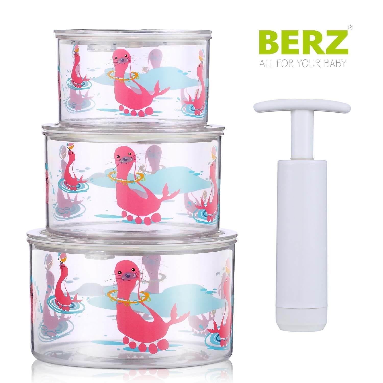 Berz Baby Vacuum StorageΜπολ Αποθήκευσης σε Κενό Αέροςμε Τρόμπα σε Διάφορα Χρώματα – ροζ