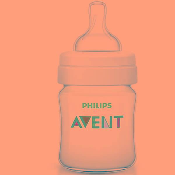 Avent Classic+ Πλαστικό Μπιμπερό 0m+ Μηνών με Πιπίλα Σιλικόνης 125ml Χωρίς BPA SCF560/17