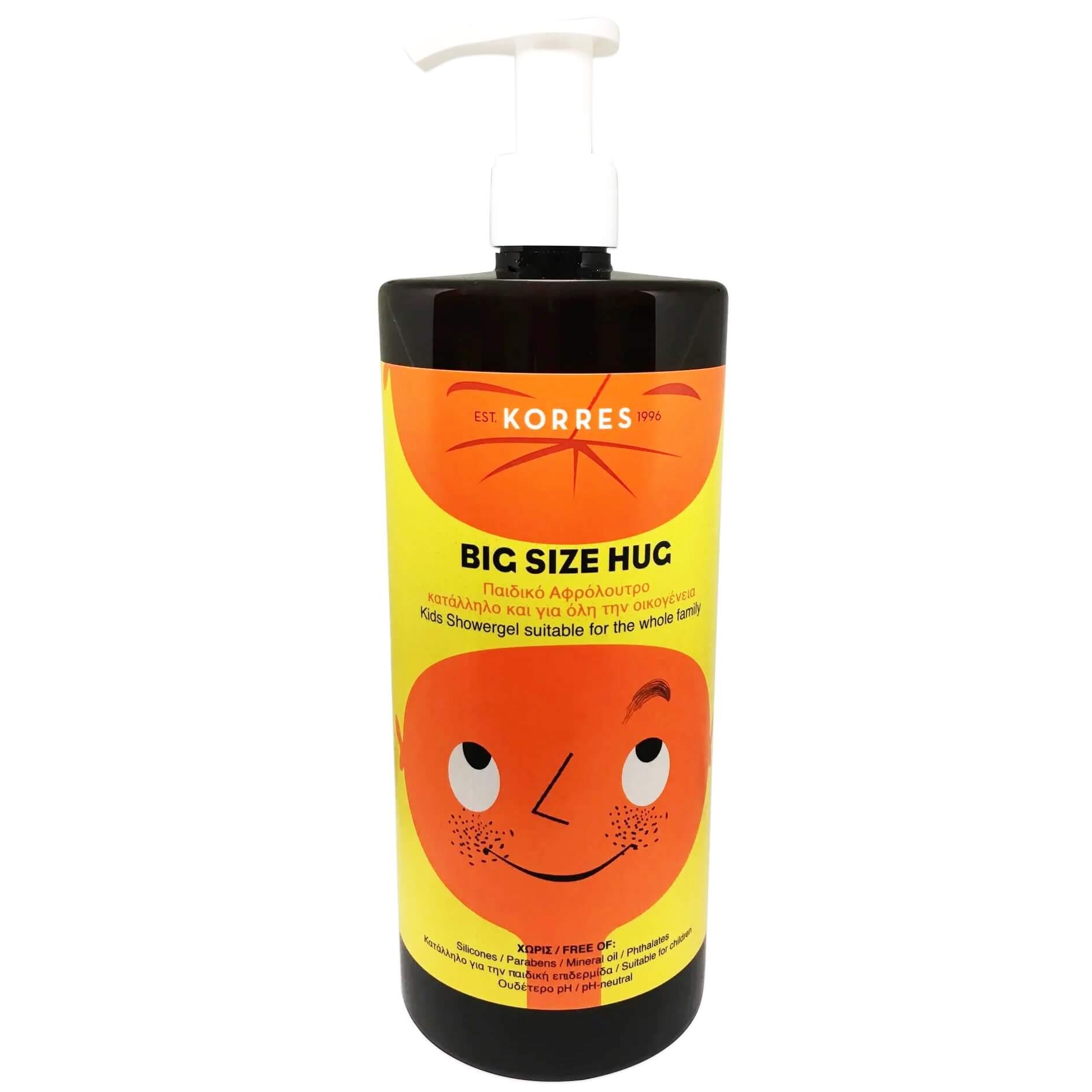Korres Big Size Hug Kids Showergel Παιδικό Αφρόλουτρο, Κατάλληλο για Όλη την Οικογένεια 1L