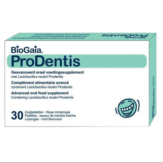 Biogaia ProDentis, Συμπλήρωμα Διατροφής για την Υγεία της Στοματικής Κοιλότητας με Γεύση Μέντας 30 Παστίλιες