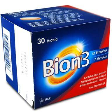 Bion 3 Συμπλήρωμα Διατροφής Με 12 Βιταμίνες 30tabs