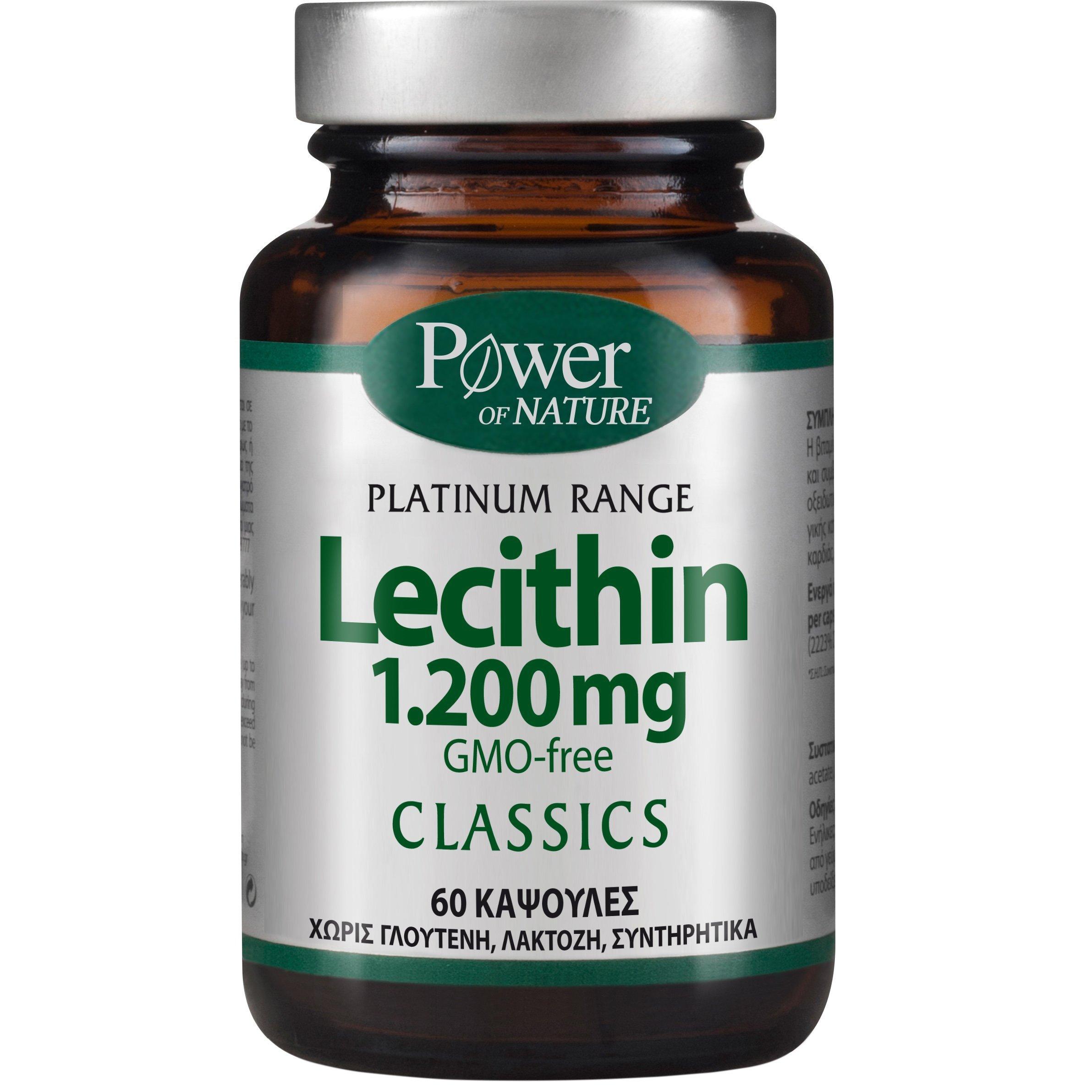 Power Health Platinum Range Lecithin 1.200mg Συμπλήρωμα Διατροφής με Λεκιθίνη 1.200mg 60caps