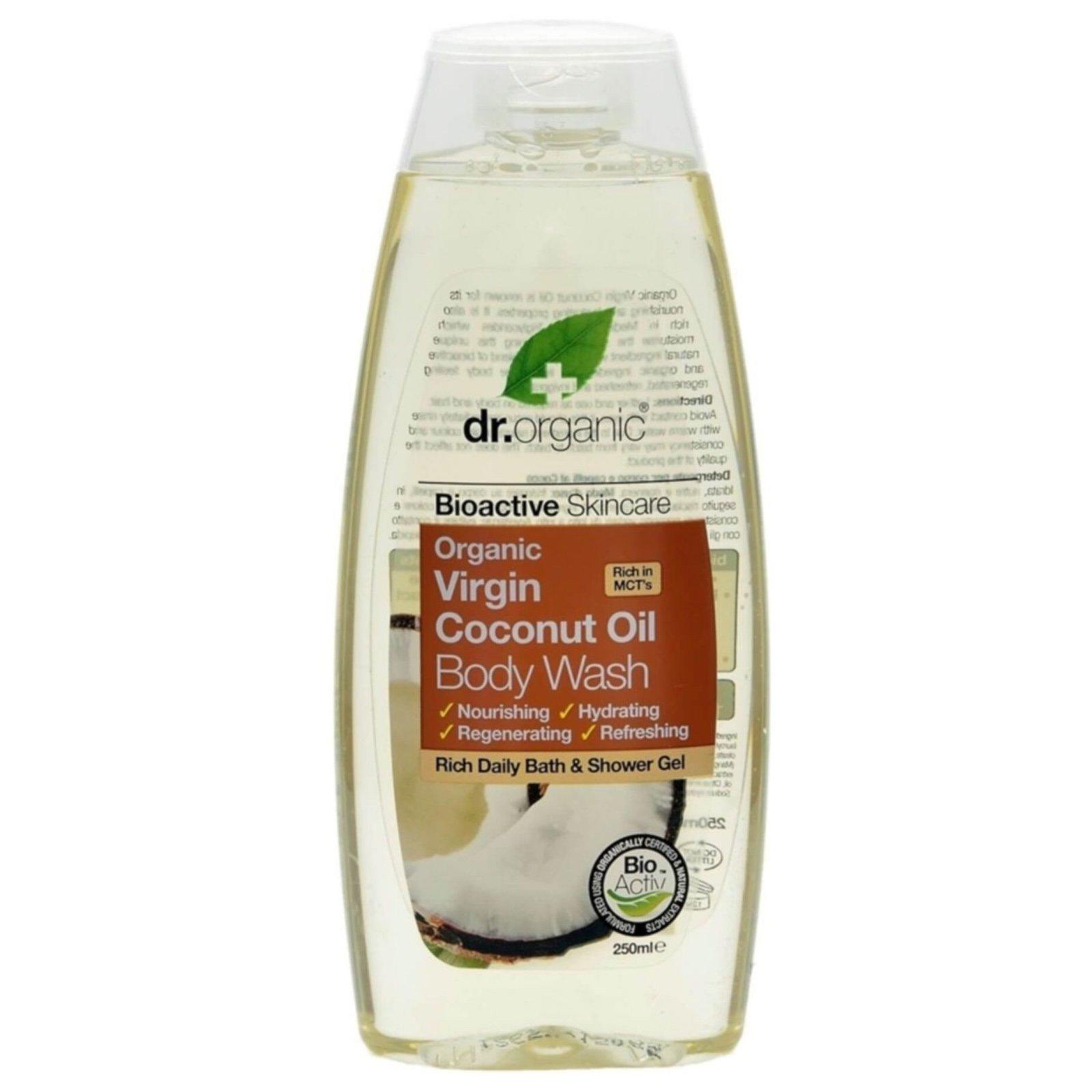 Dr Organic Organic Virgin Coconut Oil Body Wash Αφρόλουτρο με Βιολογικό Έλαιο Καρύδας 250ml