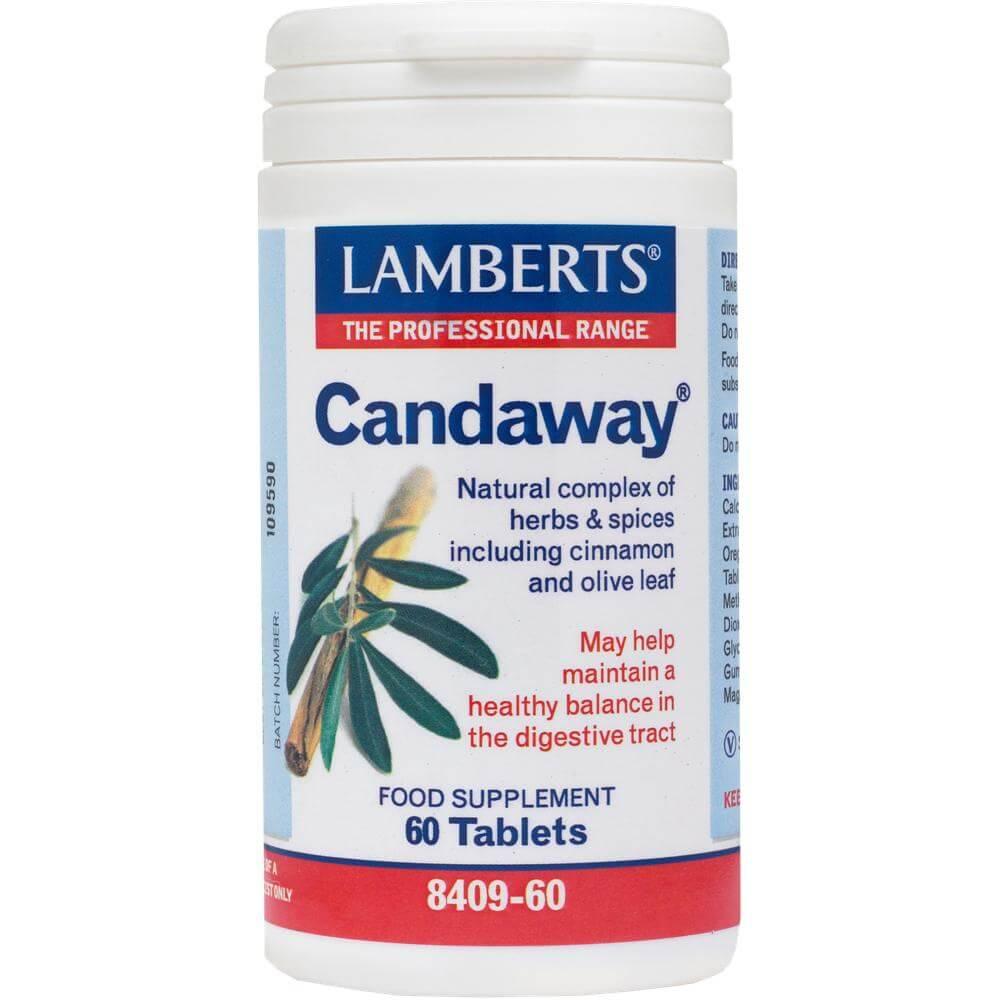 Lamberts Candaway Oregano Συμπλήρωμα Διατροφής με Αντιμικροβιακή και Αντιμυκητογόνο Δράση60tabs